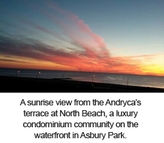 North Beach Asbury sunrise view