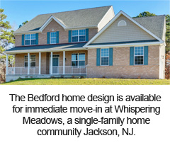 The Bedford home design is available for immediate move-in at Whispering Meadows, a